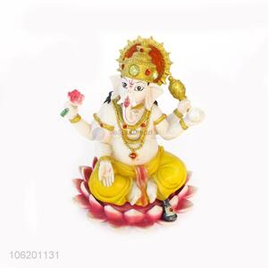 Factory Custom Home Decoration Gift Polyresin Resin Indian God Ganesh