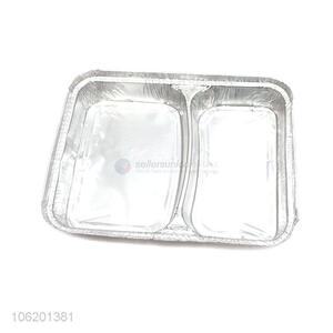 Best Sale Two-Compartment Food Use Aluminum Foil Tableware Food Container