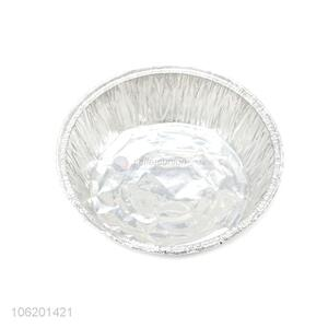 China Manufacturer Round Size Aluminium Foil Container Dinner Plates