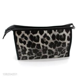 Best sale leopard printed pu cosmetic bag travel bag