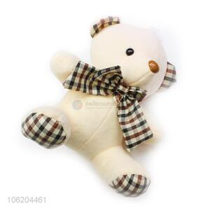 Popular cute white stuffed bear plush toys