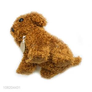 Factory price brown toy poodle stuffed dog toy