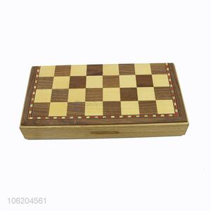 OEM factory wooden board chess game for kids