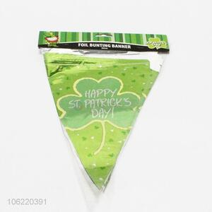 Factory sell 3.6m triangle foil bunting banner