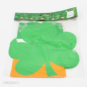 Cheap price 5.5m green clover shape paper banner