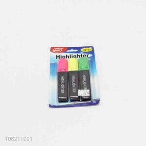 Promotional 3pcs multi-color solid highlighter coloring pen