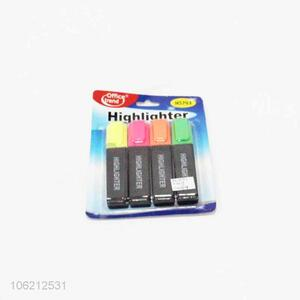 Wholesale 4pcs stationery products colorful highlighters