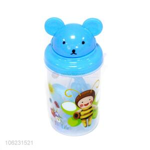 new product cute cartoon children straw sippy cups