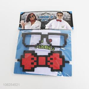 Great sales pixel glasses and pixel bow tie for party