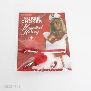 Low price party supplies red nurse chocker