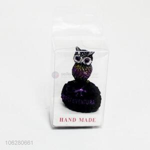 Fashion design owl shape resin crafts ornaments