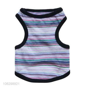 New Style Stripe Cotton Waistcoat Cheap Dog Clothes