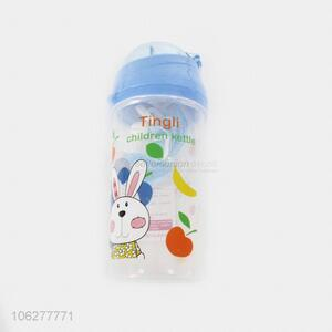 Fashionable Eco-friendly 500ML Plastic Water Bottle with Straw
