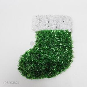 Good quality festival decoration tinsel Christmas stocking