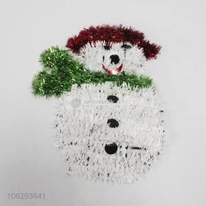 Wholesale festival decoration tinsel Christmas snowman