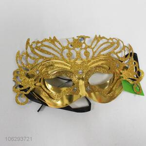 Top selling golden glitter masquerade party mask