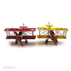 Wholesale Retro Vintage Wing Fighter Creative Home Iron Decoration Crafts