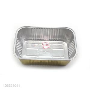 Gold Plated Aluminum Foil Takeaway Container