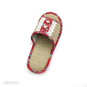 Personality Modeling Lovely Home Linen Slippers Open Toe Slippers