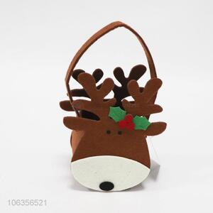 Hot selling Christmas felt crafts reindeer shaped basket