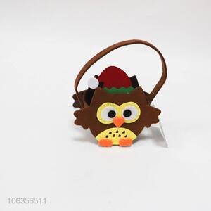 Low price Christmas felt crafts owl shaped basket