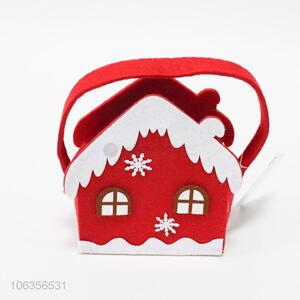 Good quality Christmas felt crafts house shaped basket