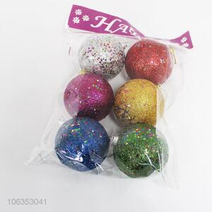 Lowest price 6pcs colorful foam Christmas balls