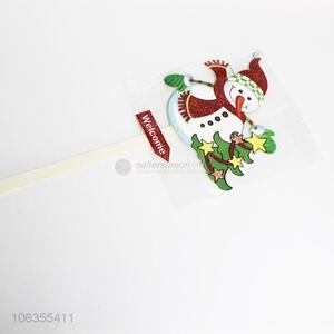 Contracted Design Christmas Snowman Shape Sticks Christmas Decorations