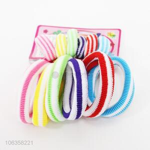 Direct factory price fashion 12pcs hair rings ponytail holders