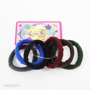 Reliable quality hair accessories 6pcs colorful hairbands hair rings