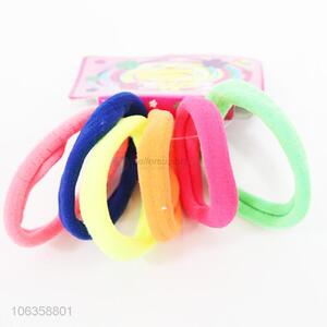 Bottom price hair accessories 6pcs colorful hairbands hair rings