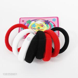 Promotional hair accessories 8pcs colorful hairbands hair rings