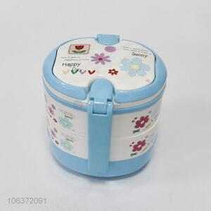 Hot selling round portable plastic lunch box
