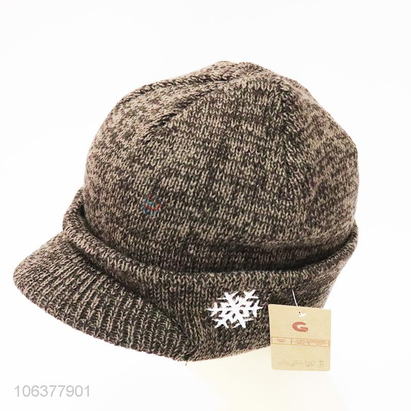 2858bbd2e143c China supplier boys winter snowflake embroidered knitting hat -  Sellersunion Online