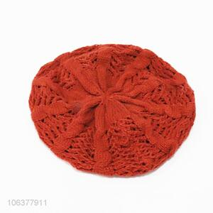 New arrival ladies fashion winter knitting beret hat