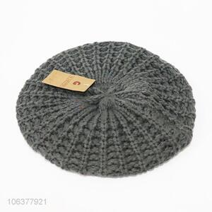 High quality women winter knitted hat beret hat