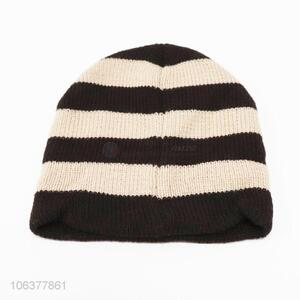 Hot products boys striped acrylic knitted winter beanie
