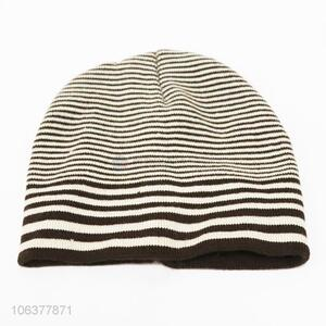 High sales kids boys striped knitting hat winter beanie
