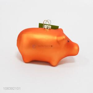 Low price Christmas home decorative orange puffy pig pendant
