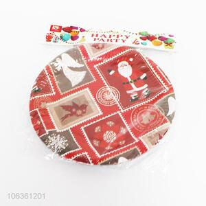 Factory Supply 10 Pieces Christmas Paper Plate