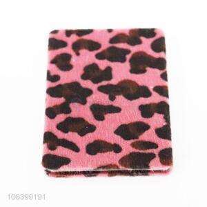 Fashionable leopard printed foldable pocket makeup mirror