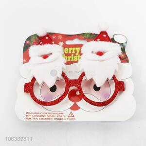 Hot style lovely red plastic Christmas glasses