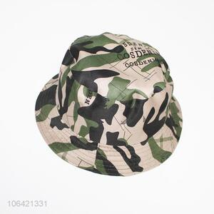 Wholesale top grade men camouflage color polyester bucket hat