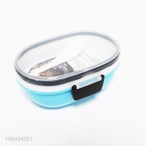 High sales premium plastic lunch box and spoon set