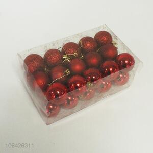 Factory Price 30PC Red Christmas Balls Festival Decorations