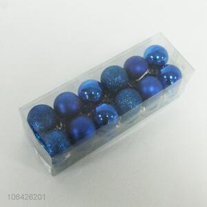 Competitive Price 24PC Blue Christmas Balls for Decorations