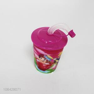 Cute Design Colorful Plastic Straw Cup Water Cup
