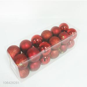 Fashion design 24pcs Christmas balls pendant for decoration