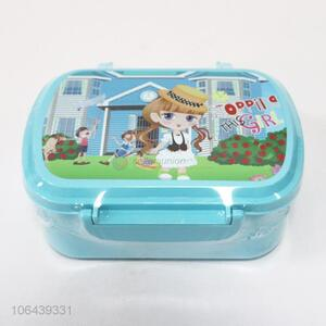 Custom Food Grade Portable Easy Carry Plastic Lunch Box