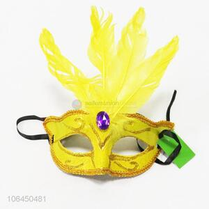 Newly designed feather masquerade mask party eye mask